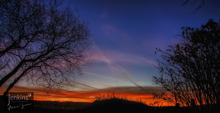sunset at jenkins photography in Garnant Carmarthenshire.
